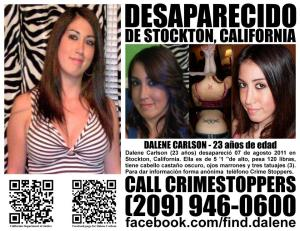 Dalene Carlson's Missing Person Flier