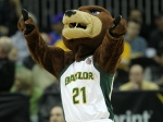 Baylor Bears mascot Bruiser performs during a basketball game. (credit: Jamie Squire/Getty Images)