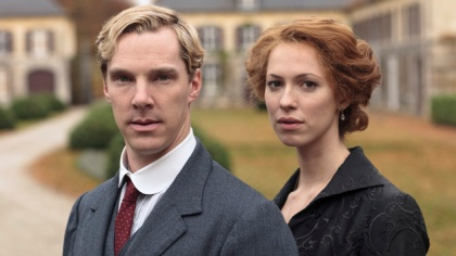 Benedict Cumberbatch stars as Christopher Tietjens with Rebecca Hall as his wife Sylvia in Parade's End