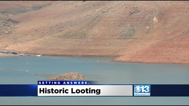 Receding Lake Oroville Waters Leave Artifacts Exposed For