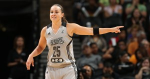 SAN ANTONIO, TX - JUNE 13: Becky Hammon #25 of the San Antonio Stars during a game against the Seattle Storm at AT&T Center on June 13, 2014 in San Antonio, Texas. NOTE TO USER: User expressly acknowledges and agrees that, by downloading and/or using this photograph, user is consenting to the terms and conditions of the Getty Images License Agreement. Mandatory Copyright Notice: Copyright 2014 NBAE (Photo by Joe Murphy/NBAE via Getty Images)