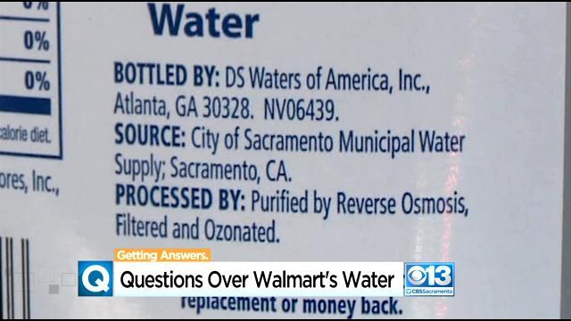 Wal-Mart Bottled Water Comes From Sacramento Municipal