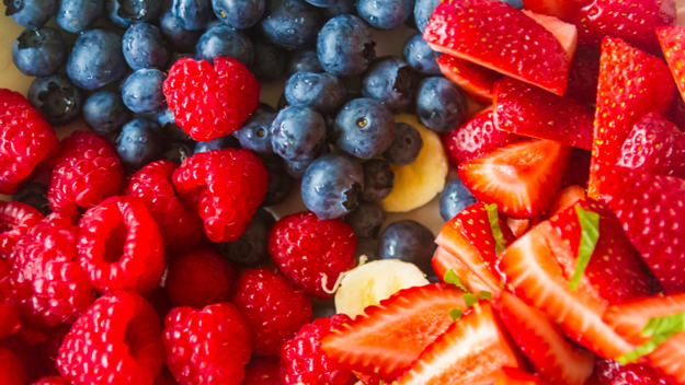 Red White and Blue Food, July 4th Foods, Fruit Salad