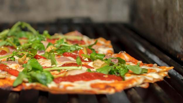 Grilled Pizza, Pizza on Grill, BBQ Pizza, Summer Grilling