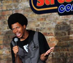 NEW BRUNSWICK, NJ - SEPTEMBER 06: Mike E. Winfield performs at The Stress Factory Comedy Club on September 6, 2014 in New Brunswick, New Jersey.