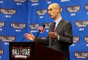 TORONTO, ON - FEBRUARY 13: NBA Commissioner Adam Silver speaks during a press conference before NBA All-Star Saturday Night at Air Canada Centre on February 13, 2016 in Toronto, Canada.