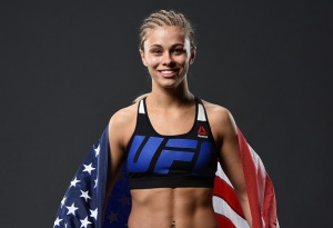 VANCOUVER, BC - AUGUST 27:  Paige VanZant of the United States poses for a post fight portrait backstage during the UFC Fight Night event at Rogers Arena on August 27, 2016 in Vancouver, British Columbia, Canada. (Photo by Mike Roach/Zuffa LLC/Zuffa LLC via Getty Images)