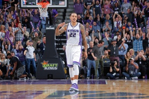 SACRAMENTO, CA - OCTOBER 29:  Matt Barnes #22 of the Sacramento Kings celebrates a win against the Minnesota Timberwolves on October 29, 2016 at Golden 1 Center in Sacramento, California. NOTE TO USER: User expressly acknowledges and agrees that, by downloading and or using this Photograph, user is consenting to the terms and conditions of the Getty Images License Agreement. Mandatory Copyright Notice: Copyright 2016 NBAE (Photo by Rocky Widner/NBAE via Getty Images)