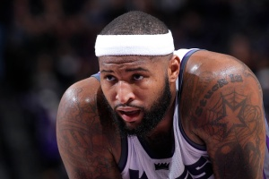 SACRAMENTO, CA - JANUARY 4: DeMarcus Cousins #15 of the Sacramento Kings looks on during the game against the Miami Heat on January 4, 2017 at Golden 1 Center in Sacramento, California. NOTE TO USER: User expressly acknowledges and agrees that, by downloading and or using this photograph, User is consenting to the terms and conditions of the Getty Images Agreement. Mandatory Copyright Notice: Copyright 2017 NBAE (Photo by Rocky Widner/NBAE via Getty Images)