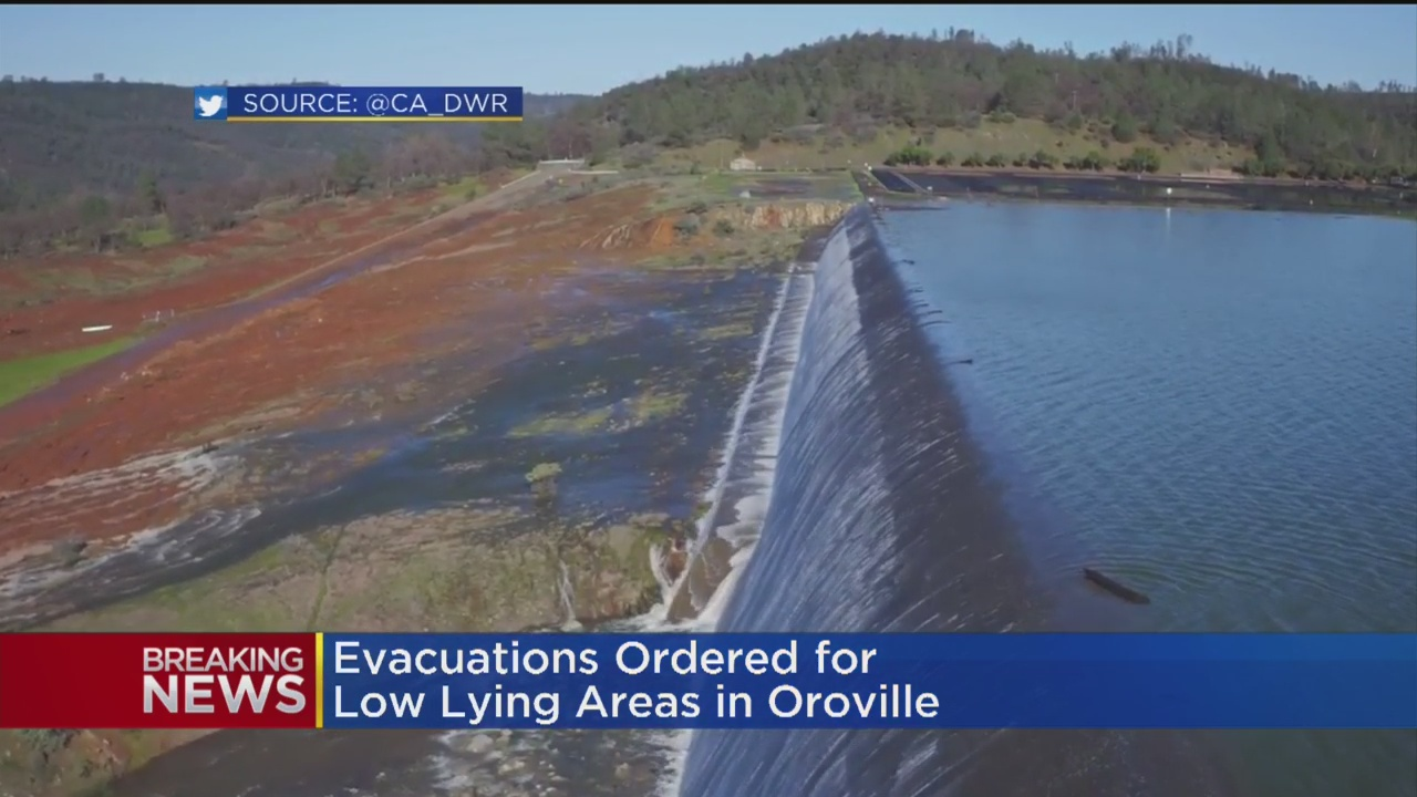Evacuation Orders Intact As Water Officials Analyze Oroville Dam