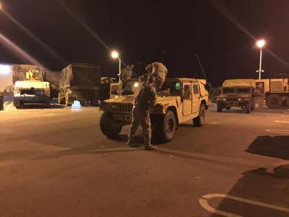 Soldiers from the 184th Infantry of the CA National Guard getting ready to help with the Oroville Dam emergency. (Credit: 1st Battalion, 184th Infantry Regiment, California Army National Guard)