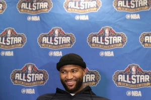 NEW ORLEANS, LA - FEBRUARY 17: DeMarcus Cousins #15 of the Sacramento Kings speaks with the media during media availability for the 2017 NBA All-Star Game at The Ritz-Carlton New Orleans on February 17, 2017 in New Orleans, Louisiana.