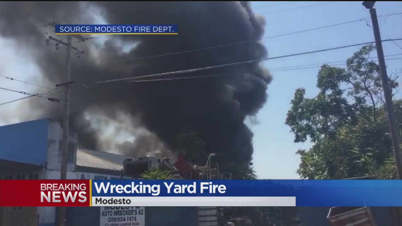 Modesto Auto Wreckers >> Firefighters Knock Down Fire At Wrecking Yard In Modesto