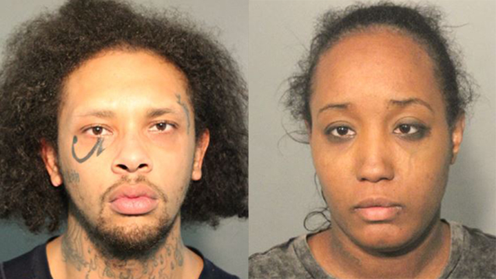 Jonathan Allen (left) and Ina Rogers' (right) booking photos. (Credit: Solano County Sheriff's Office)