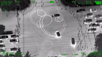 One of the sideshows spotted by CHP Airplane Air-23. (Credit: CHP-Valley Division Air Ops)