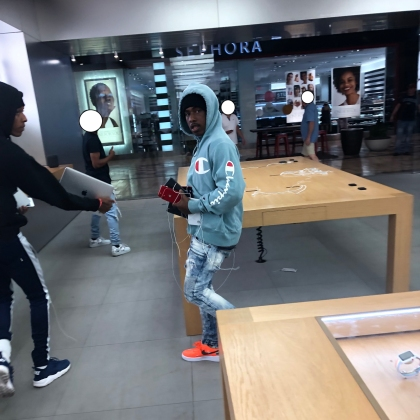 Photo snapped of the suspects by a witness inside the store. (Source: Roseville Police Department)