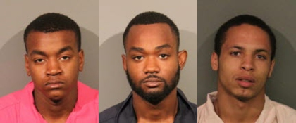 From left: Melvin Barlow, Quincy Carter Jr., and Juwan Potter. (Credit: Roseville Police Department)