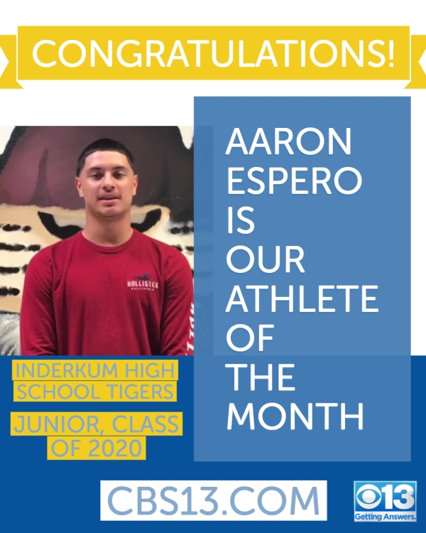 Aaron Espero voted October's Athlete of the Month