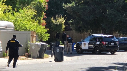 Scene of the incident in Natomas. (Credit: Mercedes Tapia)