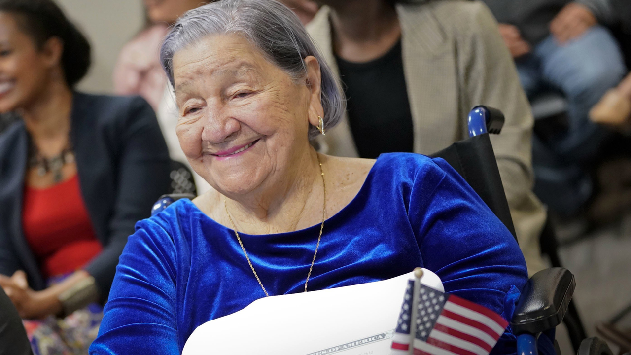 106-Year-Old Woman Takes Oath Of Citizenship On Election Day