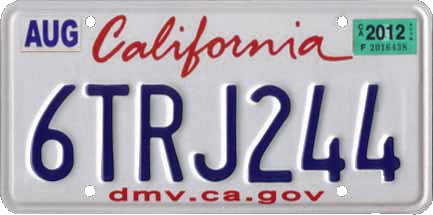 All California Cars Must Have License Plates Starting January 1