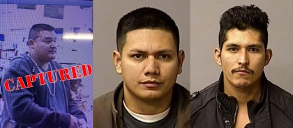 From left: Gustavo Perez Arriaga, Adrian Virgen and Erik Razo Quiroz. (Credit: Stanislaus County Sheriff's Department)