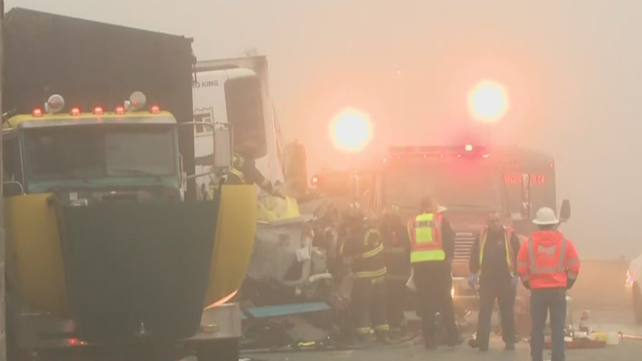 3 Big Trucks Involved In Fatal Crash On Highway 99 Near