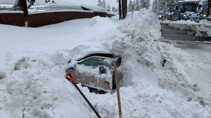 A view of the car discovered by a snow plow operator in South Lake Tahoe, Feb. 17, 2019. (City of South Lake Tahoe)