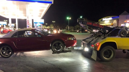 Seven cars were towed and impounded in the sideshow mission. (Credit: Stockton Police Department)