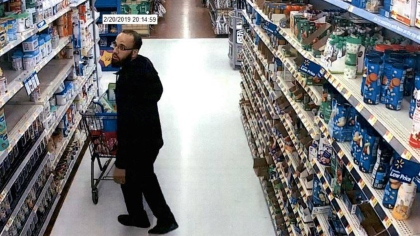 The suspect who deputies say stole a lot of baby formula from the Placerville Walmart. (Credit: El Dorado Sheriff)