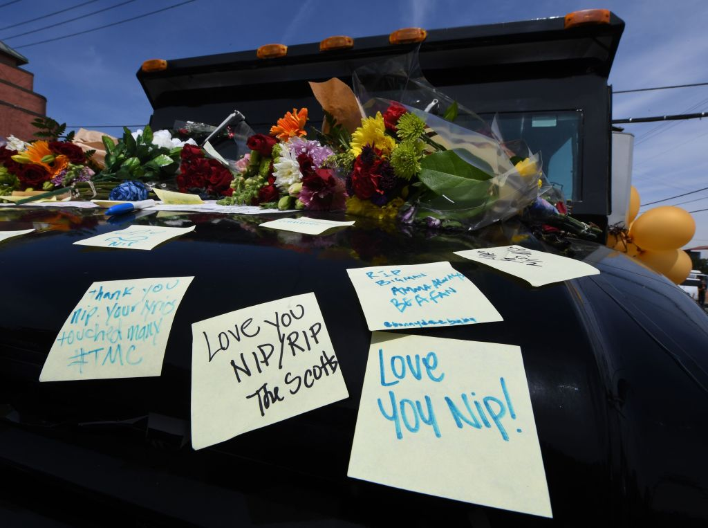 Fans Of Rapper Nipsey Hussle Create Memorial Outside His