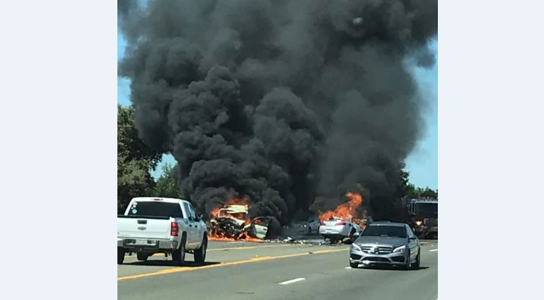 At Least 1 Dead, Cars Engulfed In Flames After Serious Head-On Crash