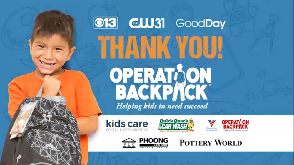Thank you for making Operation Backpack successful!