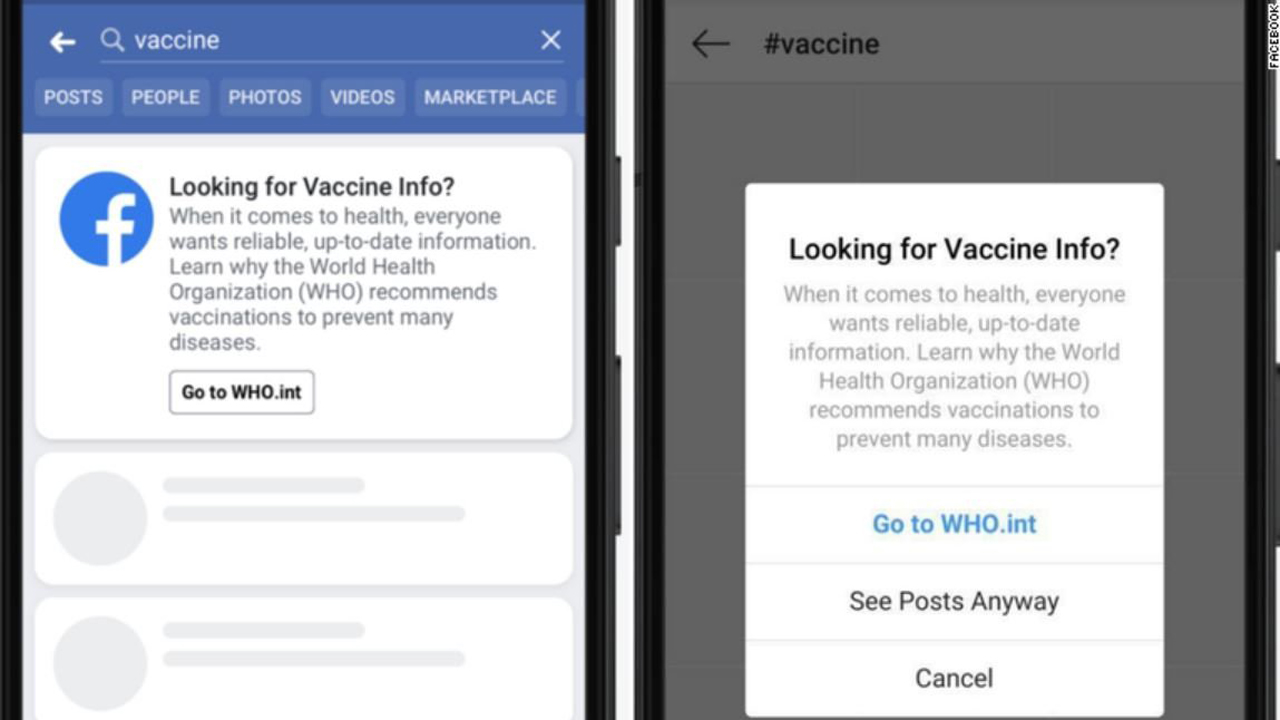 Facebook Debuts Vaccine Pop-Up Windows To Stop The Spread Of
